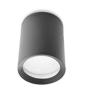 1 Light Outdoor Surface Mounted Ceiling Light Urban Grey IP54, E27