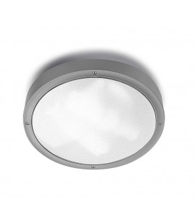 2 Light Large Outdoor Ceiling Light Grey IP65