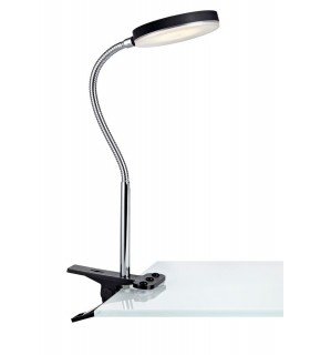 LED Indoor Clamp Table Lamp Black