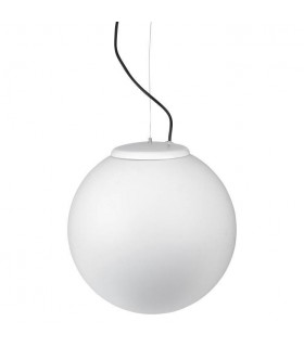 1 Light Large Outdoor Globe Ceiling Pendant Light White IP44