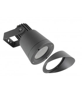 1 Light Outdoor Spotlight Black IP65