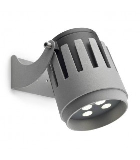 LED 9 Light Large Outdoor Spotlight Grey IP65