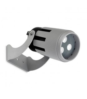 LED 3 Light Small Outdoor Spotlight Grey IP65