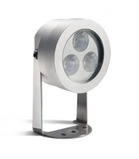 LED 3 Light Outdoor Spotlight Grey IP65