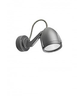 1 Light Large Outdoor Spotlight Urban Grey IP65