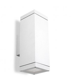 2 Light Outdoor Up Down Wall Light White IP65