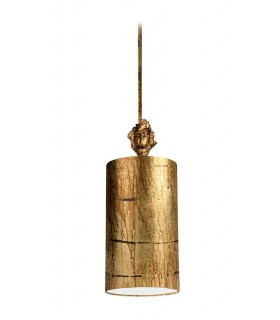 1 Light Round Small Ceiling Pendant Aged Gold