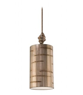1 Light Round Small Ceiling Pendant Aged Silver, E27