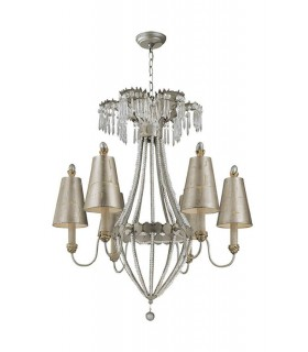 6 Light Multi Arm Chandelier Gold, Silver Finish