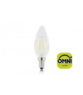 10 PACK - LED Candle Full Glass Omni-Bulb 2.8W 2700K (Warm) 250lm E14 Non-Dimmable