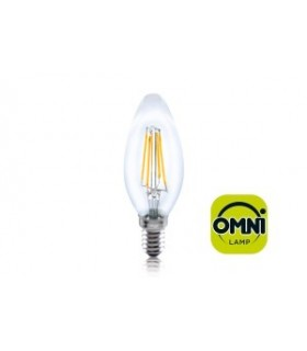 10 PACK - LED Candle Full Glass Omni-Bulb 4W 2700K (Warm) 420lm E14 Non-Dimmable