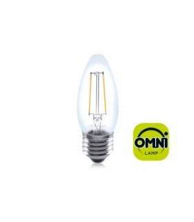 10 PACK - LED Candle Full Glass Omni-Bulb 2W 2700K 250lm E27 Non-Dimmable