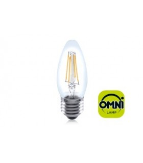 10 PACK - LED Candle Full Glass Omni-Bulb 4W 2700K (Warm) 420lm E27 Non-Dimmable