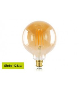 10 PACK - LED Sunset Vintage Globe 125mm 5W 1800K - Ultra Warm 380lm B22 Dimmable Bulb
