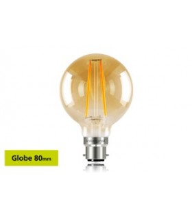 10 PACK - LED Sunset Vintage Globe 80mm 2.5W 1800K - Ultra Warm 170lm B22 Non-Dimmable Bulb