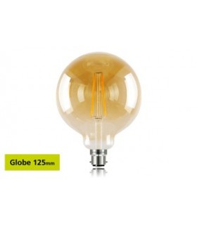 10 PACK - LED Sunset Vintage Globe 125mm 2.5W 1800K 170lm B22 Non-Dimmable Bulb