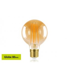 10 PACK - LED Sunset Vintage Globe 80mm 5W 1800K - Ultra Warm 380lm E27 Dimmable Bulb