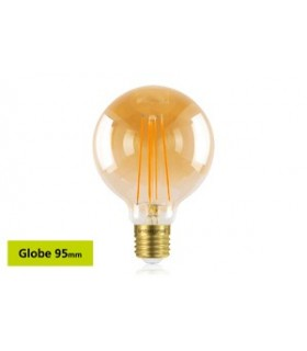 10 PACK - LED Sunset Vintage Globe 95mm 5W 1800K - Ultra Warm 380lm E27 Dimmable Bulb