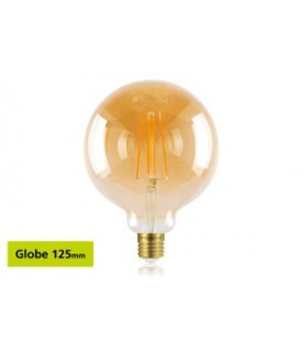10 PACK - LED Sunset Vintage Globe 125mm 5W 1800K - Ultra Warm 380lm E27 Dimmable Bulb
