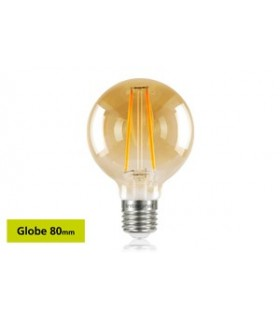 10 PACK - LED Sunset Vintage Globe 80mm 2.5W 1800K - Ultra Warm 170lm E27 Non-Dimmable Bulb