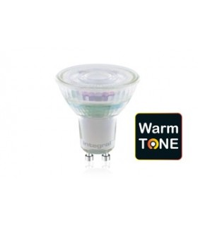 10 PACK - LED WarmTone Glass GU10 4.6W 1800-2700K (Warm) 380lm Dimmable Bulb