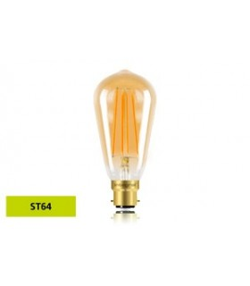 10 PACK - LED Sunset Vintage ST64 Squirrel Cage 5W 1800K - Ultra Warm 380lm B22 Dimmable Bulb