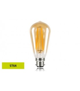 10 PACK - LED Sunset Vintage ST64 Squirrel Cage 2.5W 1800K - Ultra Warm 170lm B22 Non-Dimmable Bulb