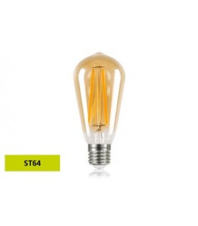 10 PACK - LED Sunset Vintage ST64 Squirrel Cage 2.5W 1800K - Ultra Warm 170lm E27 Non-Dimmable Bulb