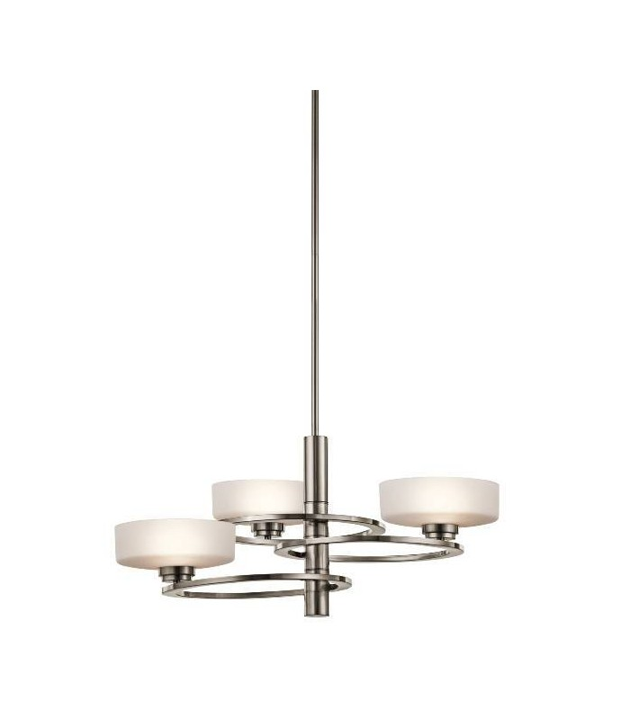 Chandelier 3 Light Classic Pewter Finish