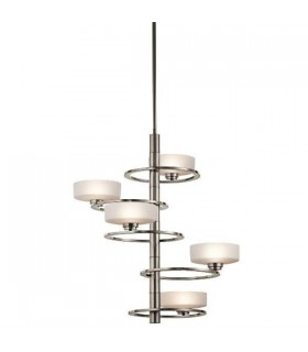 5 Light Chandelier Classic Pewter Finish