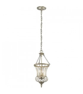 2 Light Small Ceiling Pendant Gold