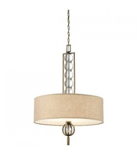3 Light Ceiling Pendant Bronze, Beige, E27