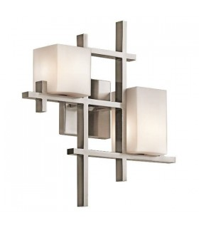 2 Light Indoor Wall Light Classic Pewter, G9