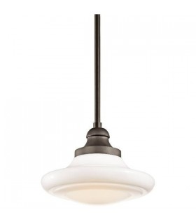 1 Light Medium Ceiling Duo-Mount Pendant Olde Bronze, E27
