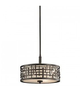 3 Light Ceiling Duo-Mount Pendant Olde Bronze, E27
