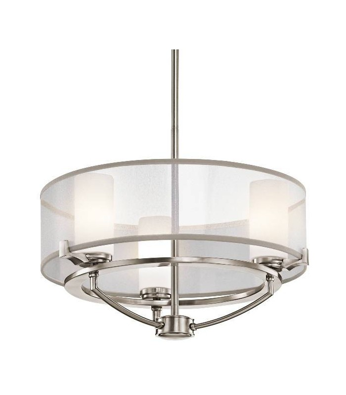 3 Light Pendant Chandelier Light Classic Pewter