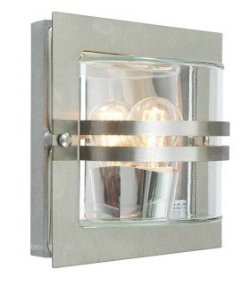 1 Light Outdoor Frosted Wall Light Stainless Steel IP65, E27