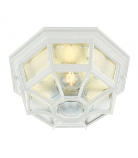 1 Light Outdoor Wall Lantern Light White IP44, E27