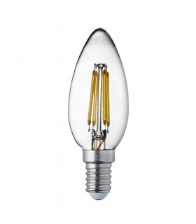 10 PACK E14 Led Filament Candle Lamp - 4W, 420Lm, Warm White 2700K