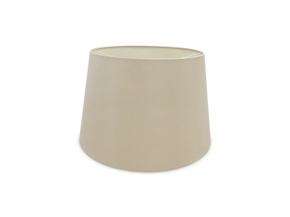 Dual Mount Round Empire, 320, 400 x 260mm Dual Faux Silk Fabric Shade, Nude Beige, Moonlight