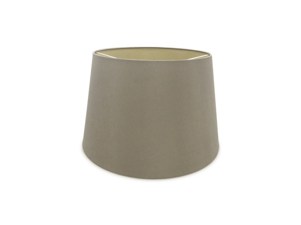 Dual Mount Round Empire, 320, 400 x 260mm Dual Faux Silk Fabric Shade, Taupe, Halo Gold