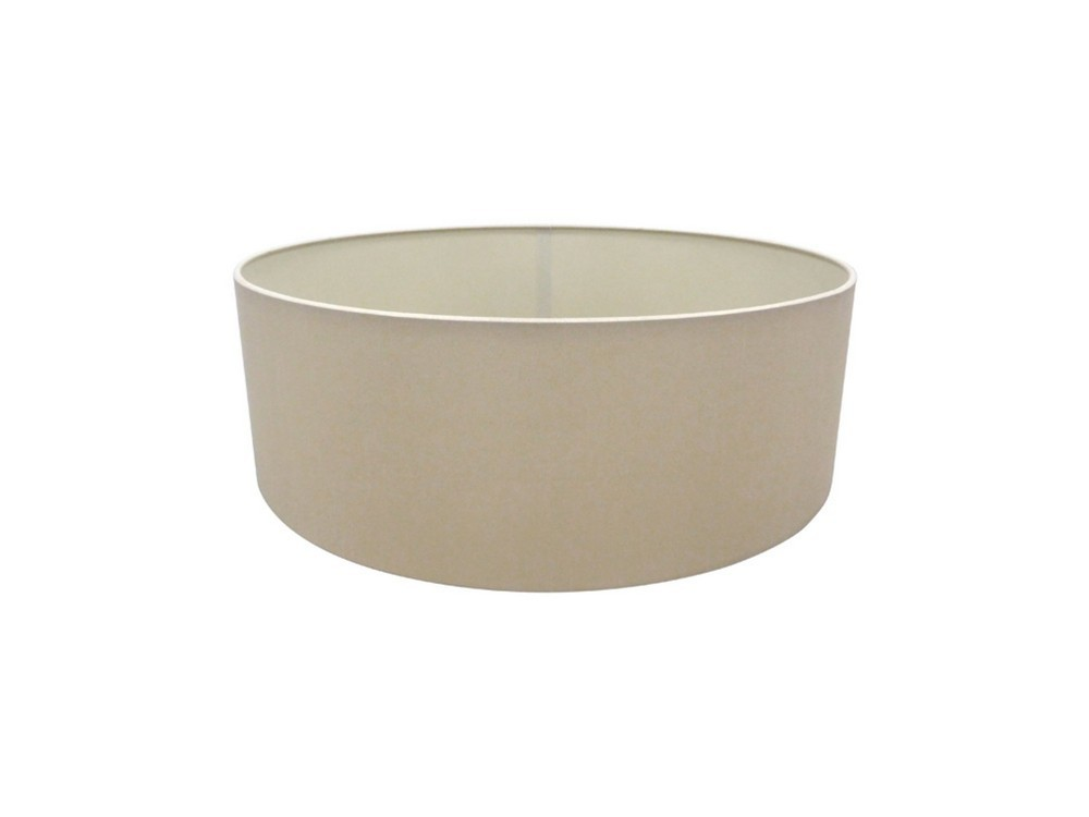 Round Cylinder, 450 x 150mm Dual Faux Silk Fabric Shade, Nude Beige, Moonlight