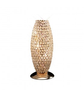 Table Lamp 3 Light French Gold, Crystal