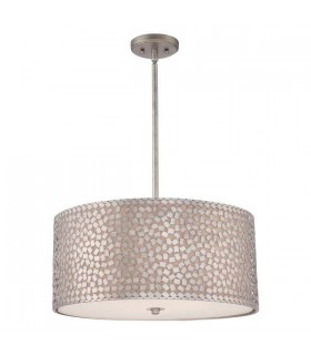 4 Light Large Ceiling Pendant Old Silver