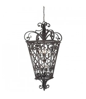 8 Light Ceiling Pendant Black