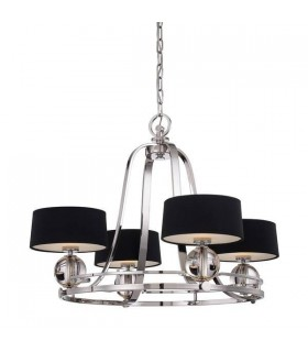 Chandelier 4 Light Imperial Silver Finish