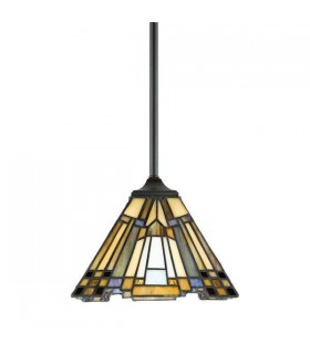 1 Light Ceiling Pendant Bronze, Tiffany, E27
