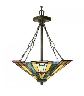 3 Light Ceiling Pendant Bronze, Tiffany, E27