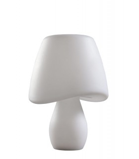 Table Lamp 2 Light E27 Outdoor IP65, Opal White