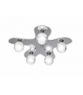 Ceiling 5 Light G9 ECO, Polished Chrome